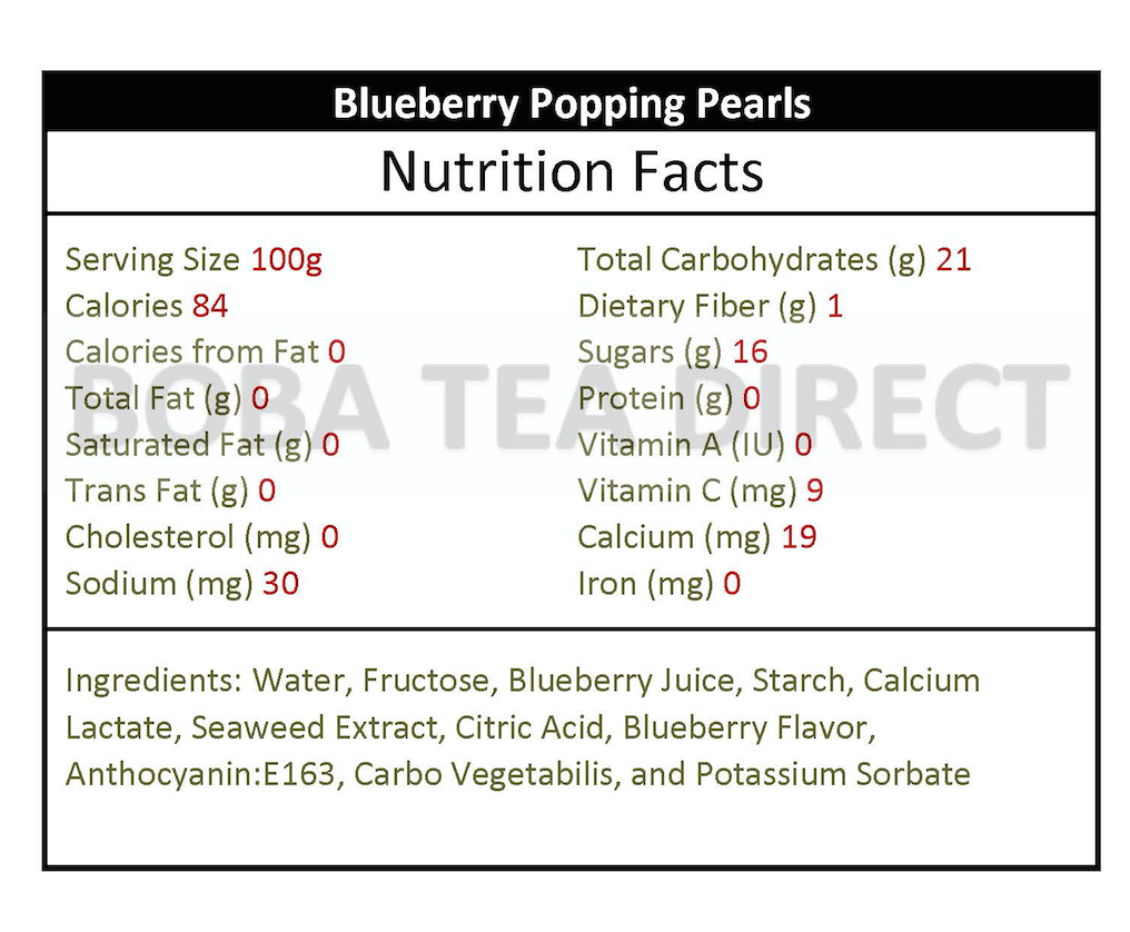Possmei Blueberry Popping Pearls (7-lbs)