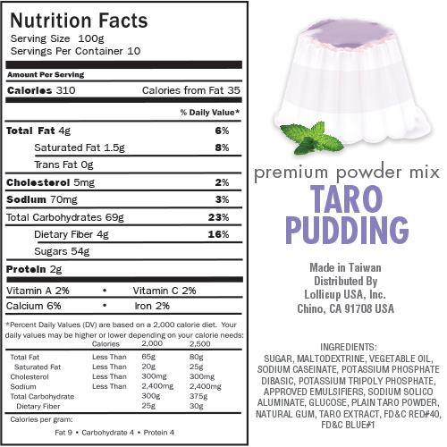 Bubble Tea Taro Pudding Mix. Our price: