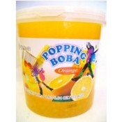 Orange Popping Boba (Four 7-lbs tubs) *CASE*
