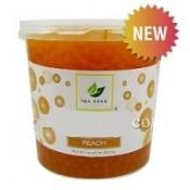Peach TeaZone Popping Pearls GOURMET-Series (Four 7-lbs tubs) *CASE*