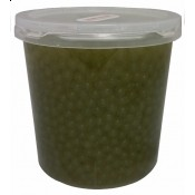 Green Apple Bursting Boba - (Case of 3 Tubs)