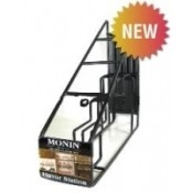 Monin Coffee Syrup Wire Rack, 4-750ml bottle rack