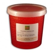 Strawberry Bursting Boba - (Case of 3 Tubs)